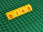 blog in lego letters