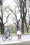 cycling in park