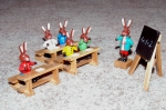 rabbit figures in classroom setting