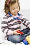 girl and stethoscope