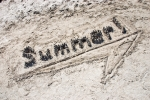 summer written in the sand